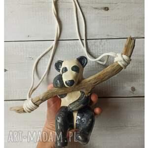 świąteczny prezent, panda wisząca, ceramika, panda, gałąź, drewnoznadmorza, miś