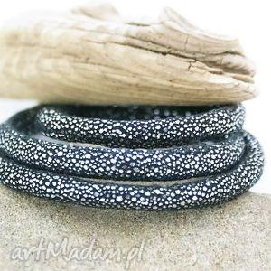 ręcznie wykonane bransoletka owijana welurowa