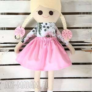 lalki szmacianka z personalizacją, róże, szmacianka, szmaciana, szyta, lalka