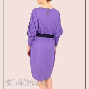 handmade sukienki fioletowo granatowa sukienka kimono