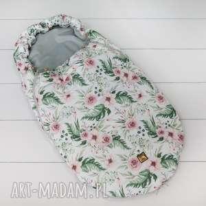 ręcznie zrobione dla dziecka śpiworek do wózka blossom