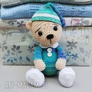 Prezent Śpioch Wojtek, miś, zabawka, przytulanka, bawełniana, prezent, dziecko