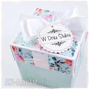 ślubny exploding box - ze zdjęciem, ślub, pudełko, para młoda, życzenia