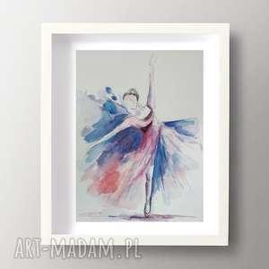 baletnica -akwarela formatu