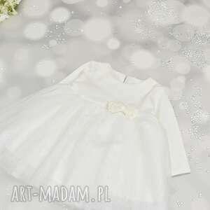 handmade sukienka tiukowa do chrztu