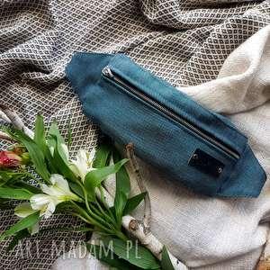 granatowa nerka pojemna saszetka, nerka, wegańska torba