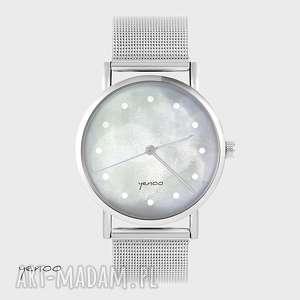 Prezent Zegarek, bransoletka - Szary metalowy, zegarek, bransoletka, metalowy