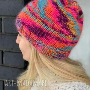 Kolorowa czapka czapki the wool art czapka, kolorowaczapka