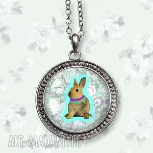 upominki święta Wielkanocny zajączek - oryginalny naszyjnik, zając, królik