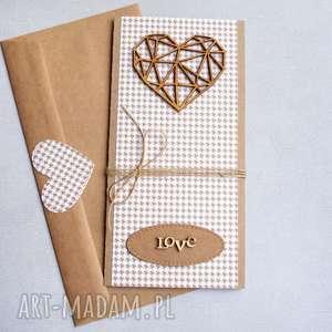 kartka ślubna geometric heart pepitka, ślub, ślubna, geometryczne serce