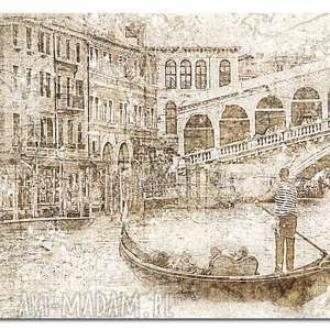 obraz xxl miasto 13 wenecja - 120x70cm na płótnie gondola, obraz, wenecja