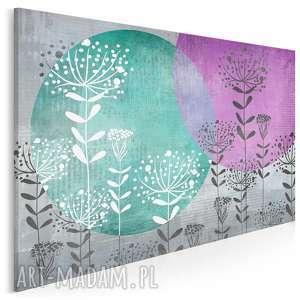 obraz na płótnie - abstrakcja koła rośliny 120x80 cm 23301, koła