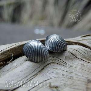 Scallop earrings radecka art kolczyki sztyfty, wkrętki, morskie