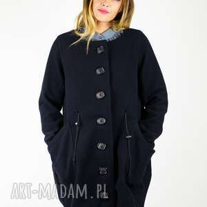 wełniany płaszcz zapinany na guziki tylko r m, płaszcz, maxi, wełniany, ciepły