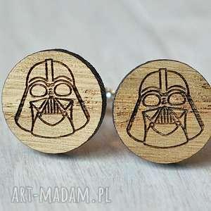 Dębowe drewniane spinki do mankietów DARTH VADER, drewniane, spinki, darth, vader