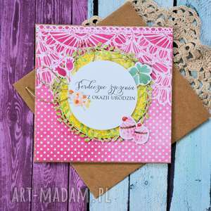 kartka - serdeczne życzenia z okazji urodzin 1 - kartka, urodziny, kobieta