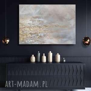 gold glamour obraz ręcznie malowany 100x70 cm, złoty