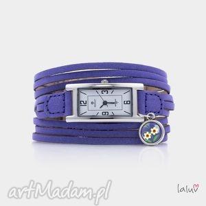 bransoletki zegarek na skórzanej bransolecie stokrotki, kwiat, natura, kwiatki, łąka