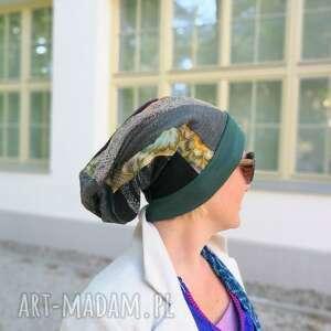 handmade czapki czapka szyta patchworkowo etno boho - box g1 na podszewce, rozmiar