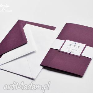 zaproszenie ślubne astral w folderze, folder, zaproszenie, kieszonką