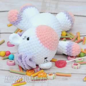 Mały szydełkowy kucyk - Słodziak, kuc, kucyk, konik, tęczowy, szydełkowy, różowy
