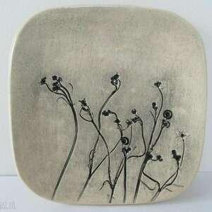 mały talerzyk na wszystko - ,roślinny,talerz,ceramiczny,artystyczny,