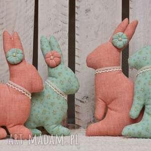 Zajączek pomarańcz i mięta komplet 2 szt, zajączek, króliczek, koszyczek, wielkanoc