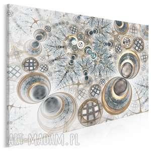 Obraz na płótnie - KOŁA FRAKTALE - 120x80 cm (62301), abstrakcja