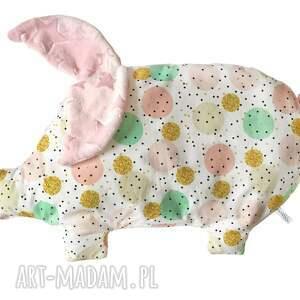 poduszka świnka - poduszka, niemowle, dziecko, minky