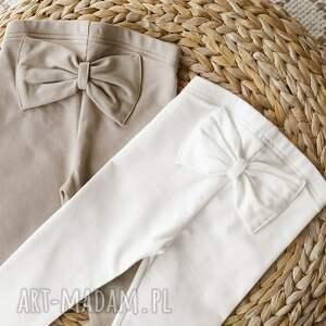 handmade legginsy z kokardką