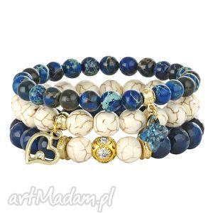 riverside ivory , jaspis, howlit, agat, swarovski bransoletki biżuteria, pod