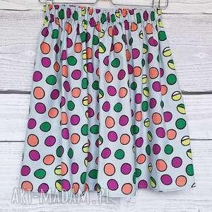 handmade spódnice spódnica w kolorowe grochy
