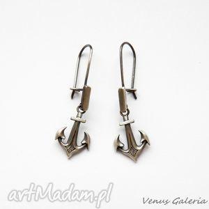 kotwice - kolczyki srebrne, srebro, kotwice, kolczyki, biżuteria, venus, nadzieja