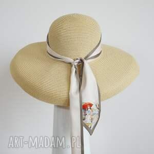 ozdoby do włosów kapelusz audrey, kapelusz, letni, beż, pod choinkę prezent