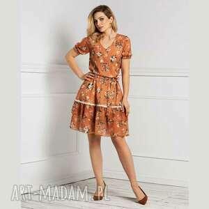sukienka shanti mini jaśmina, mini, w kwiaty