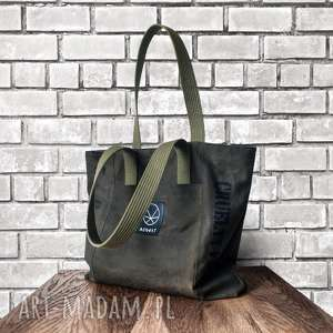 wytrzymała solidna torebka CANVAS KHAKI 269, solidna-torba, militarny-styl