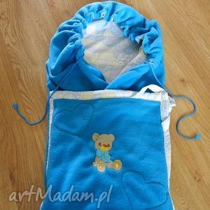 dla dziecka polarowy becik / kocyk niemowlaka z haftem, becik, dzieci