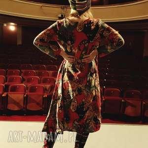 sukienka lniana z bawełną w kwiaty, sukienka, bawełna, len, tunika, oversize