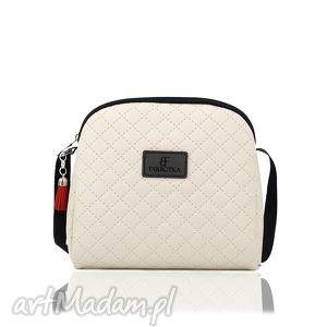 mini simple color 165, torebka, mini, kremowa