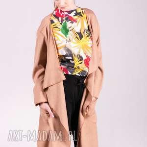 Kardigan-karmelowy swetry trzyforu kardigan, sukienki, bluzy