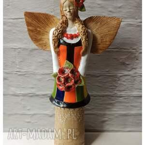 wylegarnia pomyslow anioł ludowy mazowszanka, ceramika, mazowsze, anioł, taniec