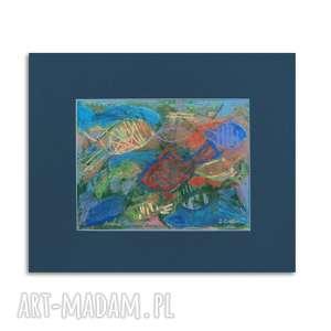 rysunek z rybkami, ryby obraz, rybki rysunek, morze nowoczesny obraz