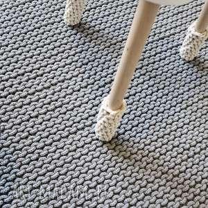 Dywan XL z bawełnianego sznurka 120 x 180, bawełniany, sznurek, dziergany, rękodzieło
