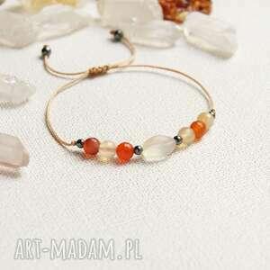 handmade bliźnięta - zodiac collection karneol, cytryn