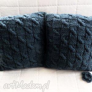 poduszki robione ręcznie wełna 40x40 cm 2szt, poduszki, poduszka, wełna, poszewki