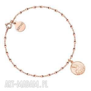 hand made bransoletki bransoletka z różowego złota z medalikiem