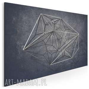 Obraz na płótnie - geometryczny loft industrialny 120x80 cm