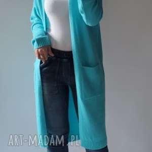feltrisimi kardigan,płaszczyk z kieszeniami, elegancki, długi, klasyczny, prosty