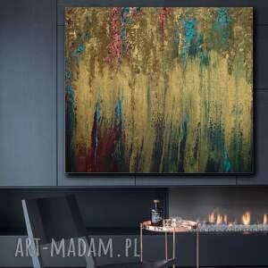 obraz do salonu - bogato zdobiony złota winorośl, prezent, abstrakcja, nowoczesny