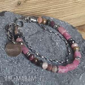 treendy bransoletka srebrna z turmalinami, ze srebr, biżuteria na prezent